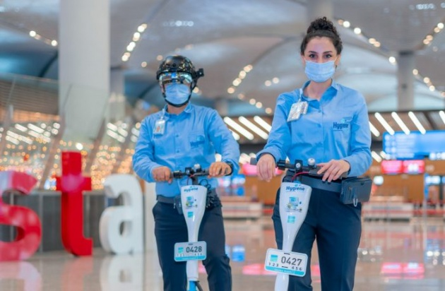 Istanbul Airport is providing antimicrobial and antiviral uniforms to staff